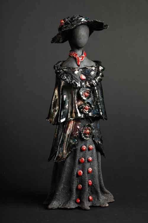 Kvindeskulptur - sort