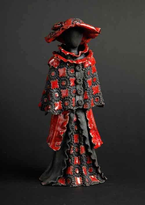 Kvindeskulptur - rød