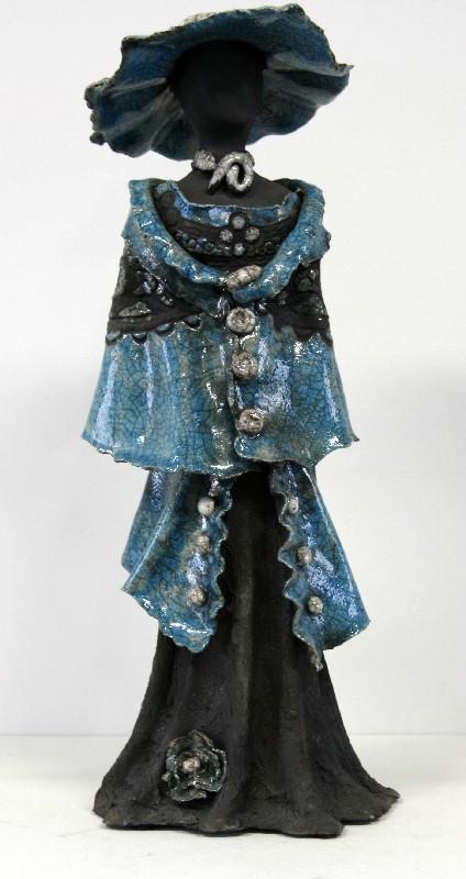 kvindeskulptur -keramik