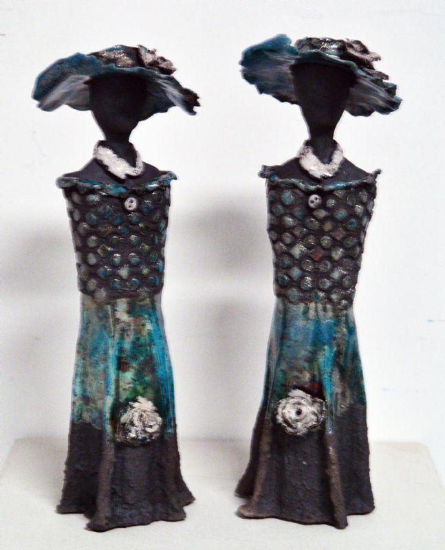 Tvillingsæt med kjole og hat