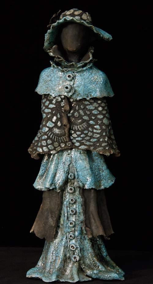 Kvindeskulptur - Blå