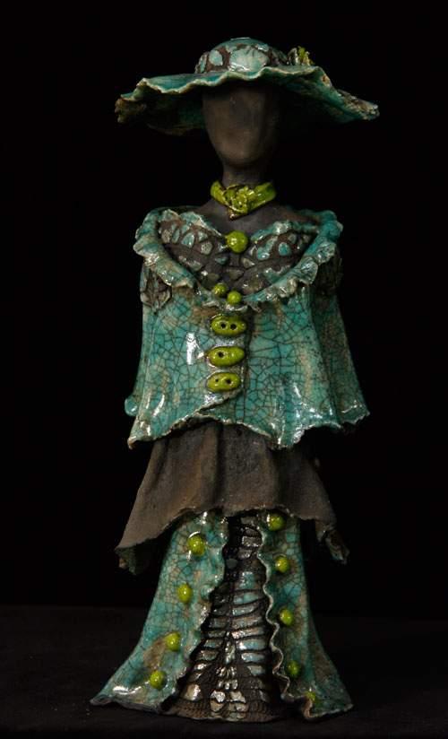Kvindeskulptur - Grøn