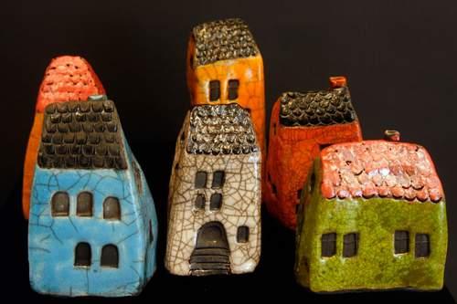 Huse i raku - forskellige størrelser