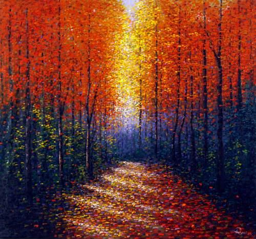 Lys mellem træer
